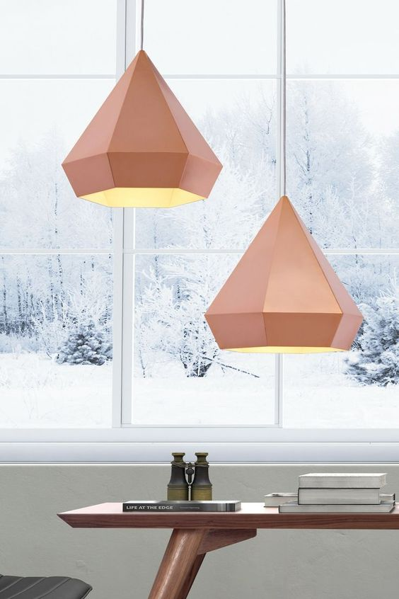 geometric rose pendant lamps