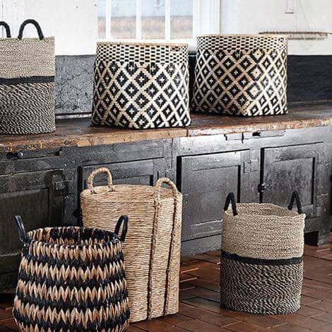 Scandinavian storage baskets