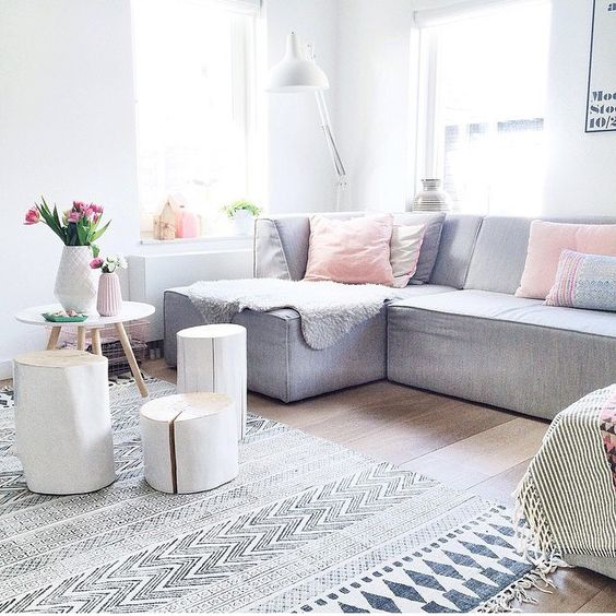 charming pastel living room