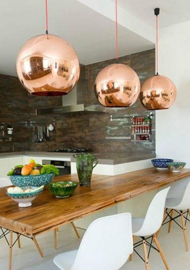 large copper pendant lights