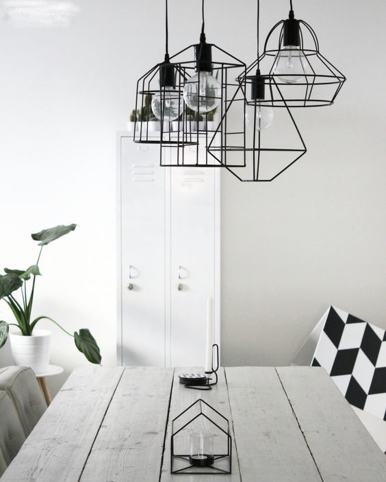 Scandinavian geometric pendant lights