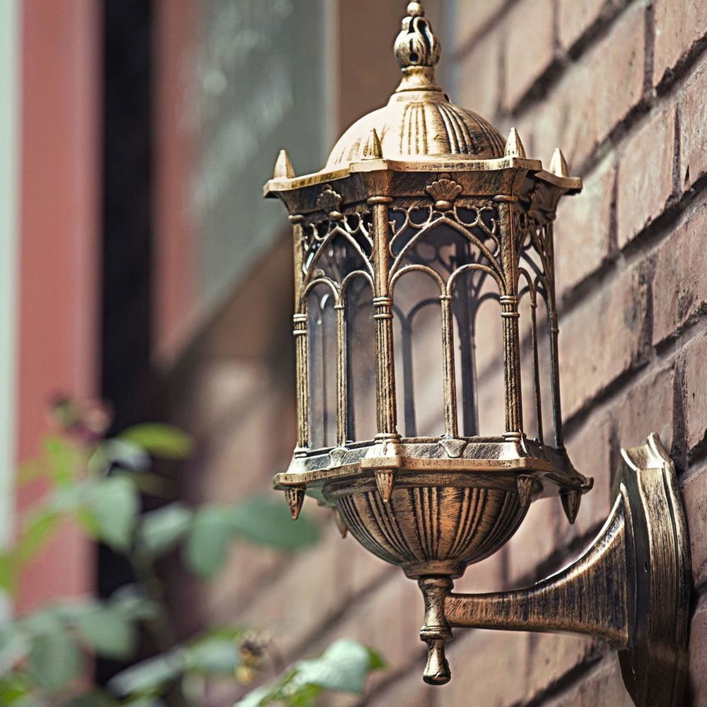 vintage bronze outdoor light