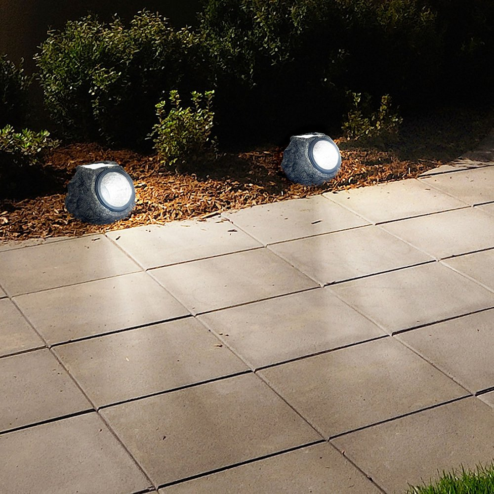 garden rock lights