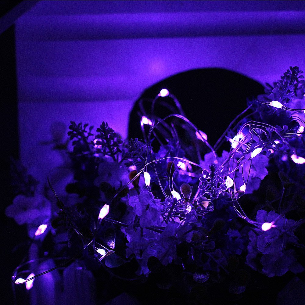 purple fairy outdoor lights