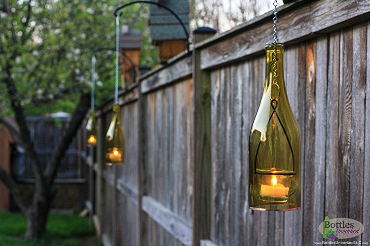 hanging bottle outdoor light