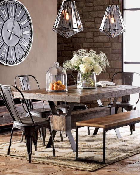 industrial modern dining room