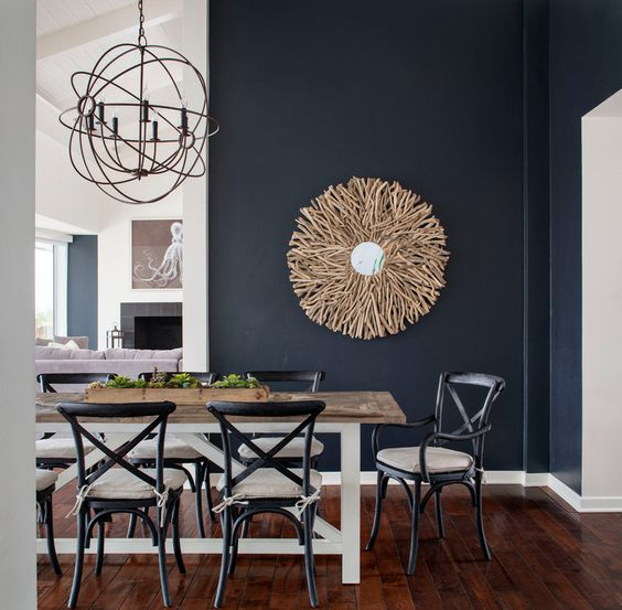 modern rustic dining room