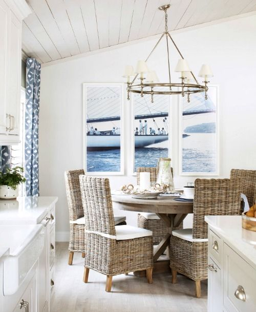 charming seascape dining room
