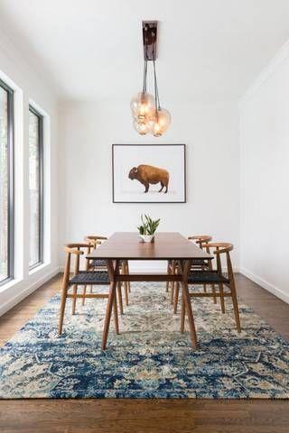 mid century modern minimalist dining room