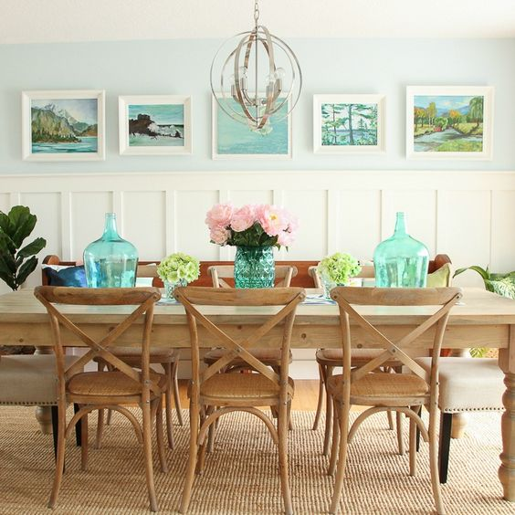 modern lakeshore dining room
