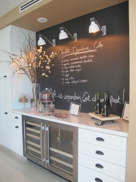 modern dining room side bar
