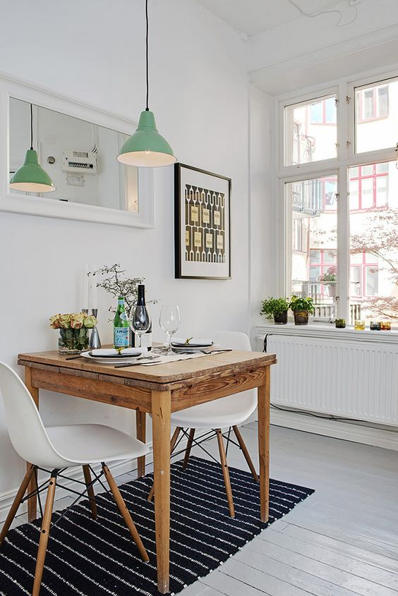 modern small dining room