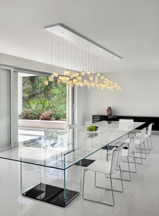 Glass Dining Room Furniture Ideas futuristic modern dining room