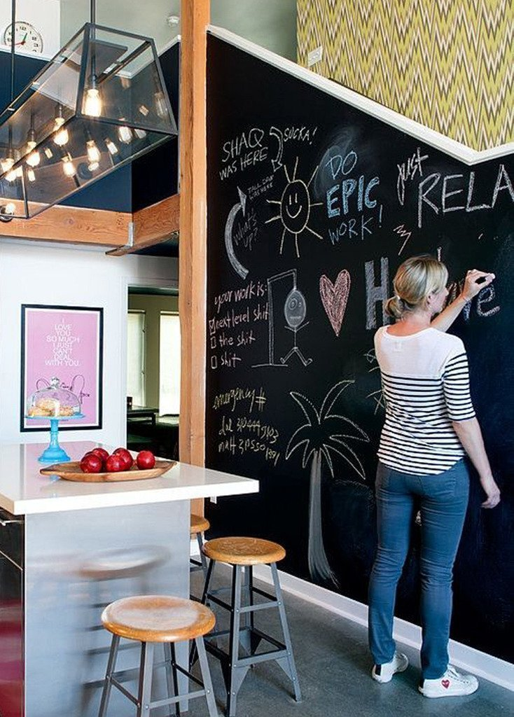 chalkboard wallpaper for home