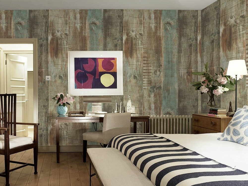 vintage wood wallpaper design for home