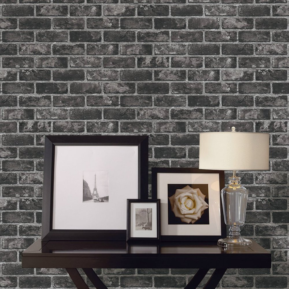 black brick wallpaper design