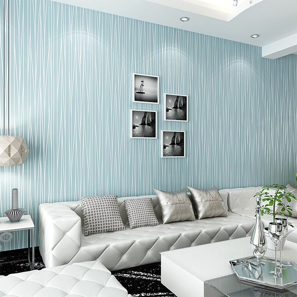 blue wallpaper design for home