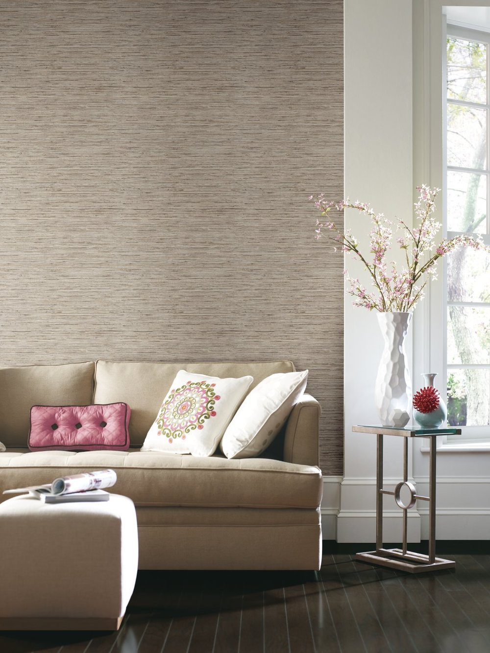 grasscloth wallpaper design for home