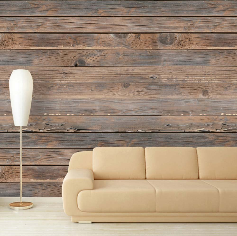 wood wallpaper design for home
