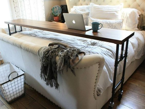 home office in bed