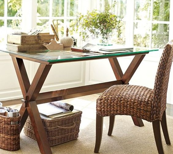 wicker home office chair