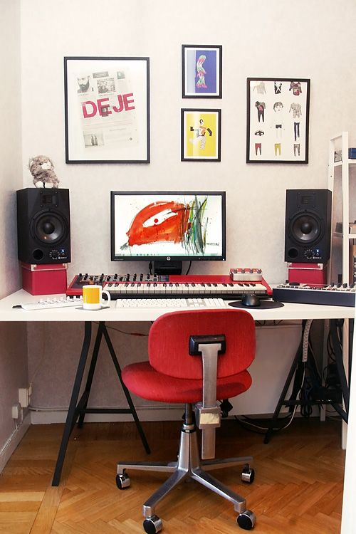 music room themed home office