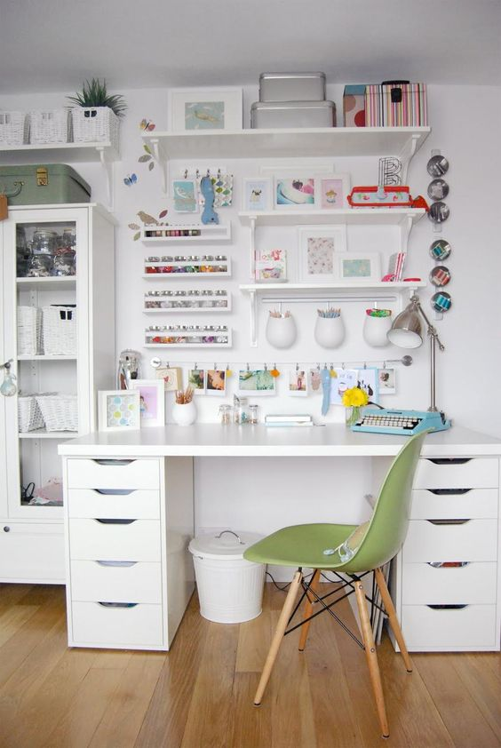 crafter's home office