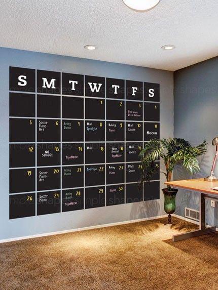 calendar wall home office