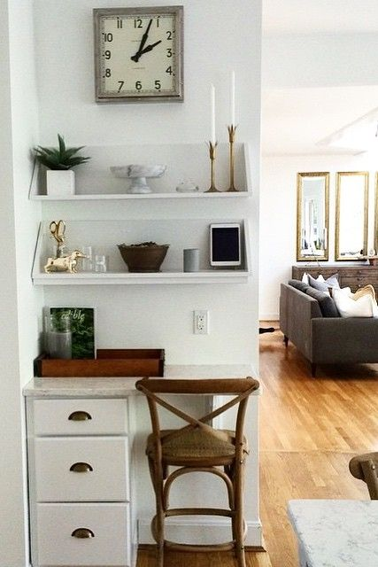 modern home office nook