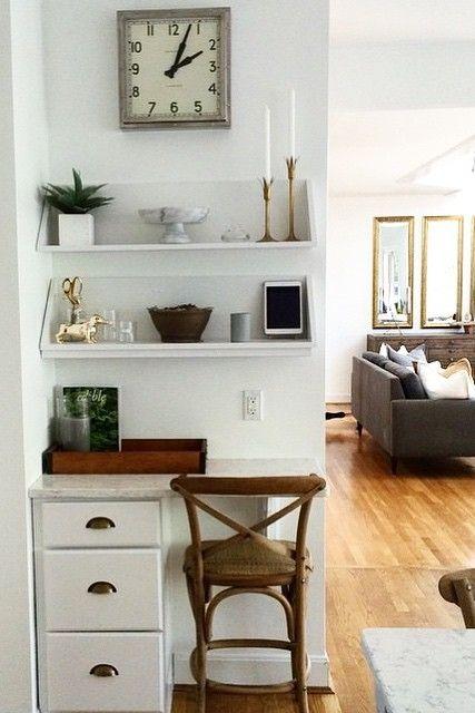 modern home office nook