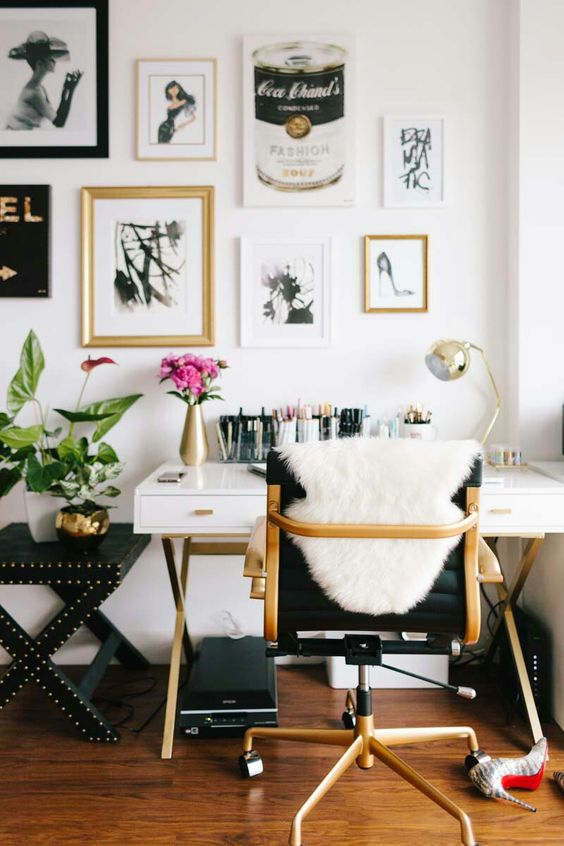 creative home office nook
