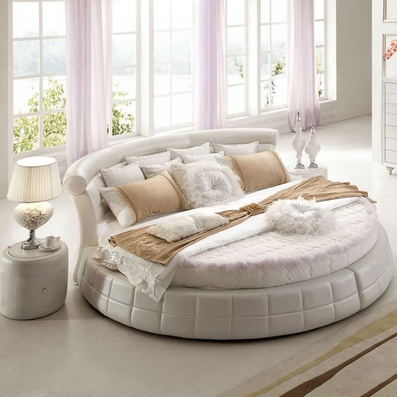 luxurious round bed