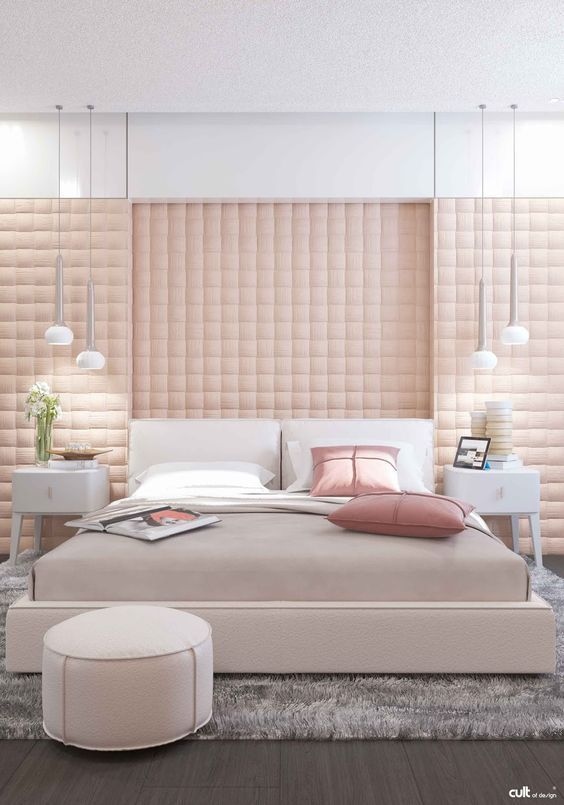 luxurious pink bedroom
