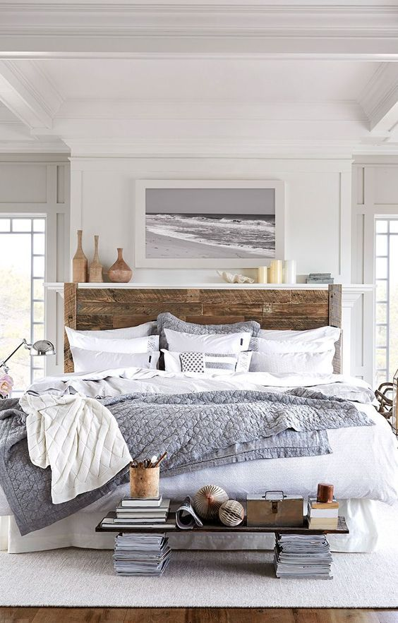 modern rustic farmhouse bedroom