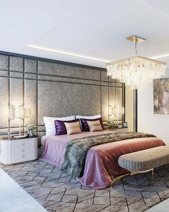 modern luxurious bedroom