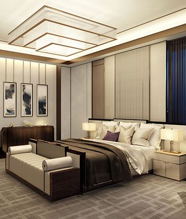 sophisticated beige bedroom