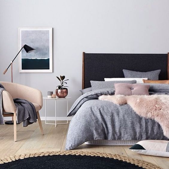 luxurious Scandinavian bedroom
