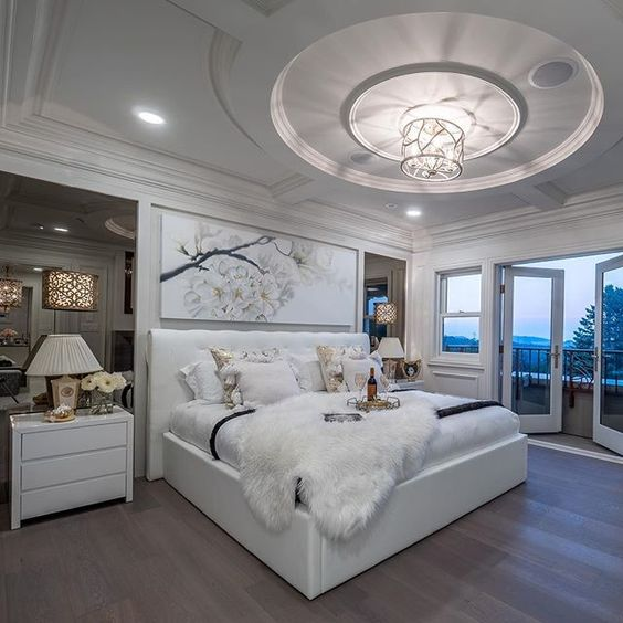 feminine luxurious bedroom