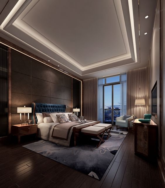 contemporary luxurious bedroom