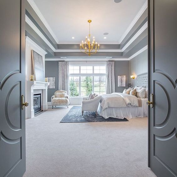double doored luxurious bedroom