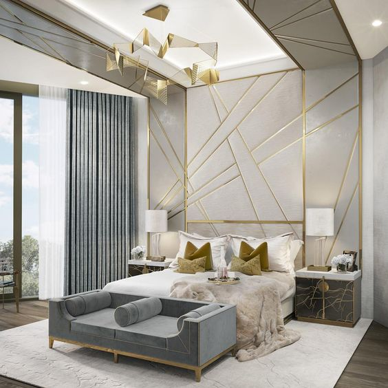 opulent and luxurious bedroom