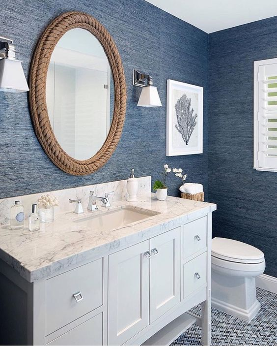 seascape themed bathroom