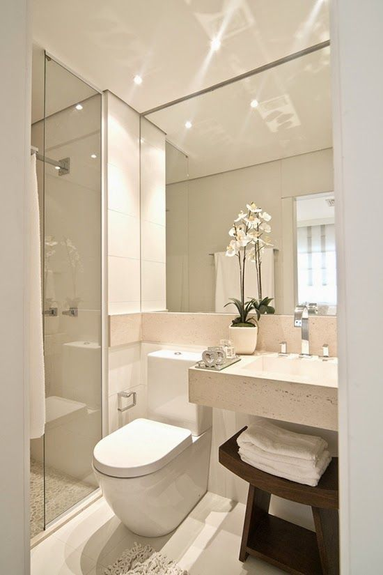 white powder room interiors