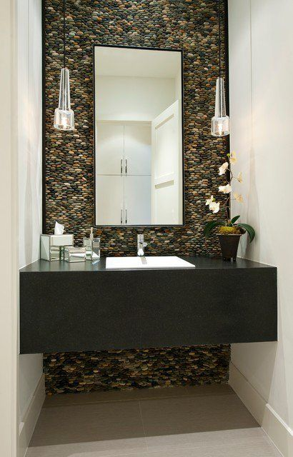 spa-inspired powder room