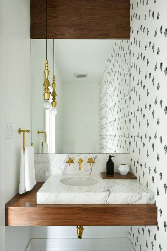 elegant powder room