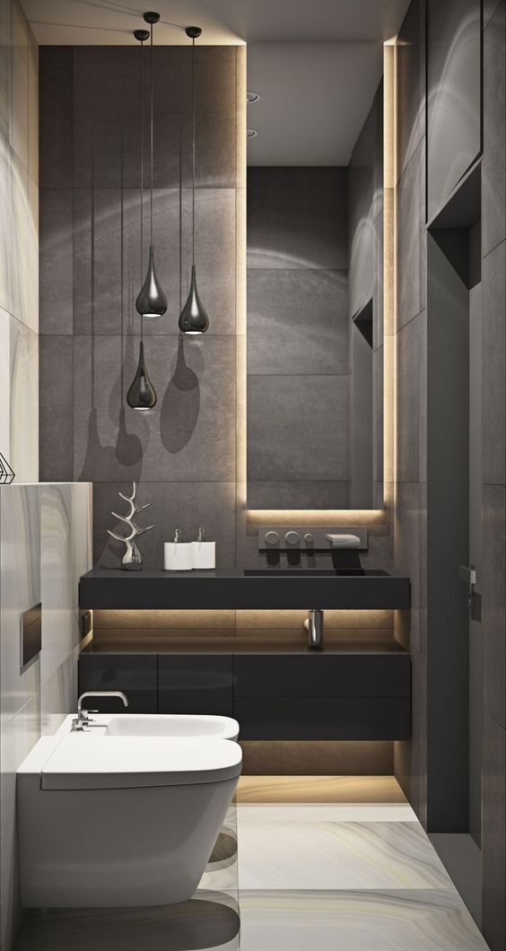 ultra modern powder room