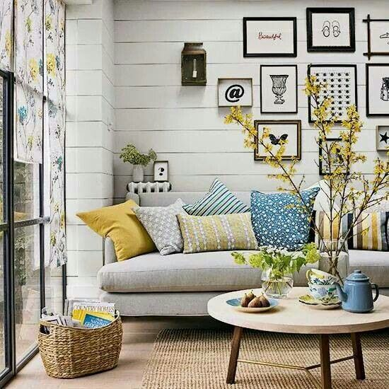 bright farmhouse living room