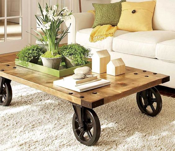 living room center table with wheels