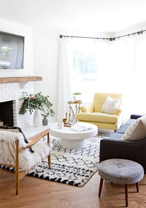 bright small living room