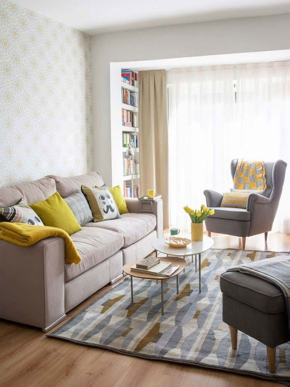 small sunny living room